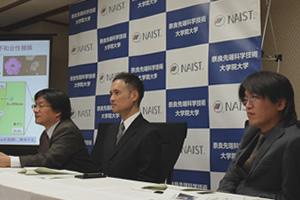 【写真】高山教授、久保研究員、円谷研究員の記者会見の様子